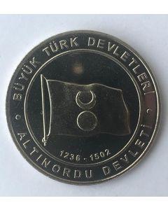 Turquia 1 Kurus 2015 - Golden Horde (Estados Turcos)
