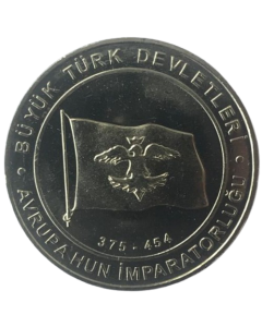 Turquia 1 Kurus 2015 - Hunnic Empire (Estados Turcos)