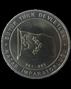 Turquia 1 Kurus 2015 - Khazar Khaganate (Estados Turcos)