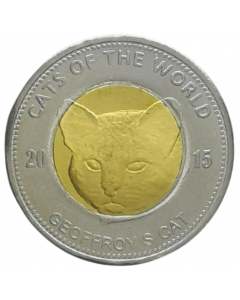 Puntland 25 Shillings 2015 FC - Gato do Mato **Exonúmia**