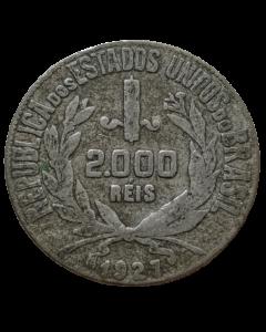 Brasil 2000 Réis 1927 - Mocinha (Prata)