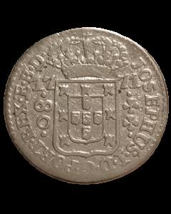 Brasil 80 Réis 1771 - Prata