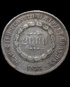 Brasil 2000 Réis 1853 - Prata