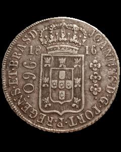 Brasil 960 Réis 1816 R - Prata (Potosi - Var 23A)