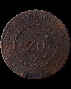 Brasil 20 Réis 1827 R