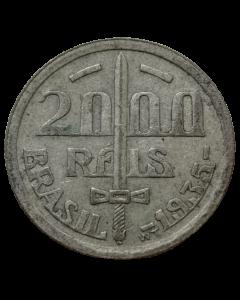 Brasil 2000 Réis 1935 - Prata