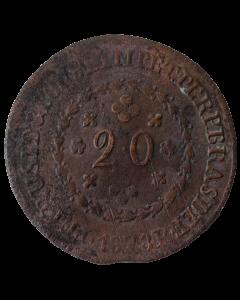 Brasil 20 Réis 1828 R (25 tulipas)