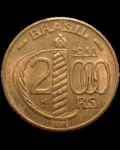 Brasil 2000 Réis 1938 FC