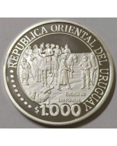 Uruguai 1000 Pesos 2011 - 200º aniversário - Independência do Uruguai