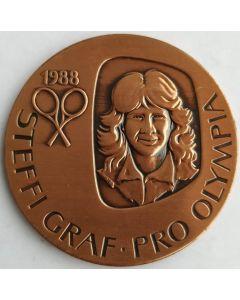 Niue - Medalha Steffi Graff alusiva aos Jogos Olímpicos 1988