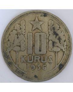 Turquia 10 Kurus 1936
