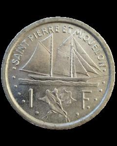 São Pedro e Miquelon 1 Franco 1948