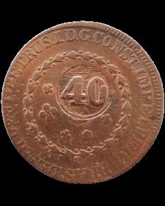 Brasil 80 Réis 1830 Rio - Carimbo Geral 40