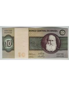 Brasil 10 Cruzeiros 1970 Sob+  C137