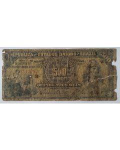 Brasil R072B 500 Réis 1894 - UTG/BC