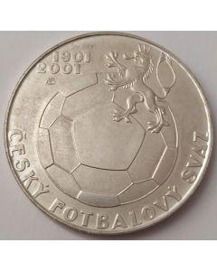 República Checa 200 Coroas 2001 (Prata) - 100 Anos da Federação Tcheca de Futebol