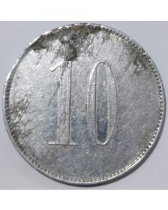 "Ficha Loteria Federal Valor Facial: ""10"""