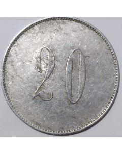"Ficha Loteria Federal Valor Facial: ""20"""