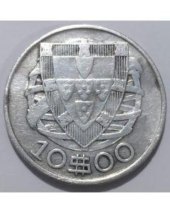 Portugal 10 Escudos 1934 - Prata