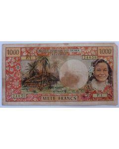 Taiti - Polinésia Francesa 1000 Francos MBC