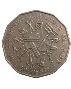 Austrália 50 Cents 1982 -  XII Jogos da Commonwealth