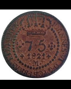 Brasil 75 Réis 1821 M