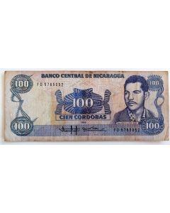 Nicarágua 100 Cordobas 1985 MBC