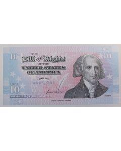 Estados Unidos 10 Bill of Rights 2011 - *Exonumia*