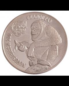 Ilhas Virgens Britânicas 1 Dólar 2015 - Orangotango (Exonumia)