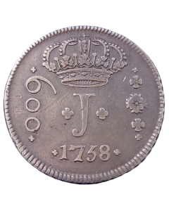 "Brasil 600 Réis ""J"" 1758 B"