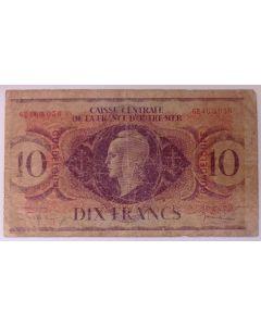 Guadalupe 10 Francos 1944