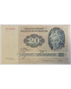 Dinamarca 20 Coroas 1972