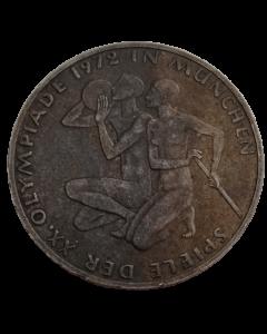 Alemanha 10 Mark 1972 J - XX Jogos Olímpicos de verão, Munique 1972 - Atletas (Prata)