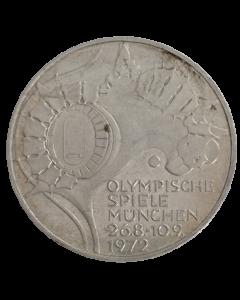 Alemanha 10 Mark 1972G - XX Jogos Olímpicos de verão, Munique 1972 - Estádio (Prata)