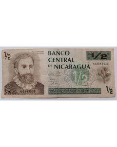 Nicarágua 1/2 Córdoba 1991