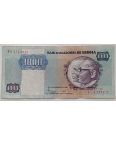 Angola 1000  Kwanzas 1987