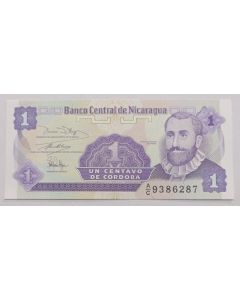 Nicarágua 1 Centavo de Córdoba 1991 FE