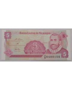 Nicarágua 5 Centavos de Córdoba 1991 FE