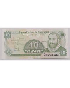 Nicarágua 10 Centavos de Córdoba 1991 FE