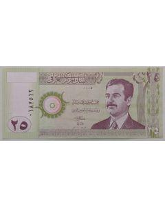 Iraque 25 Dinares 2001 FE