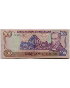 Nicarágua 500 Córdobas 1985