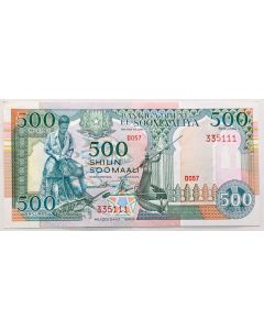 Somália 500 Shillings 1989 FE