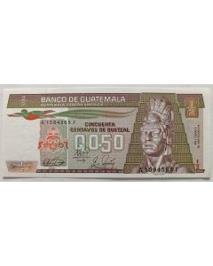 Guatemala 1/2 Quetzal 1989 FE