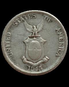 Filipinas 20 Centavos 1945 - Administração dos Estados Unidos (Prata)