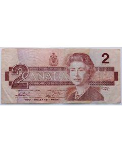 Canadá 2 Dólares 1986