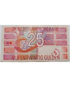 Holanda 25 Gulden 1989