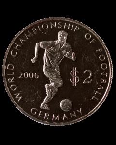 Ilhas Cook 2 Dólares 2003 (Prata) - Campeonato do Mundo de Futebol, Alemanha 2006