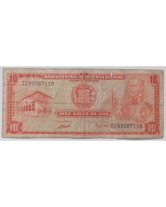 Peru 10 Soles de Oro 1972