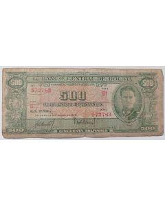 Bolívia 500 Bolivianos 1945