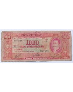 Bolívia 1000 Bolivianos 1945
